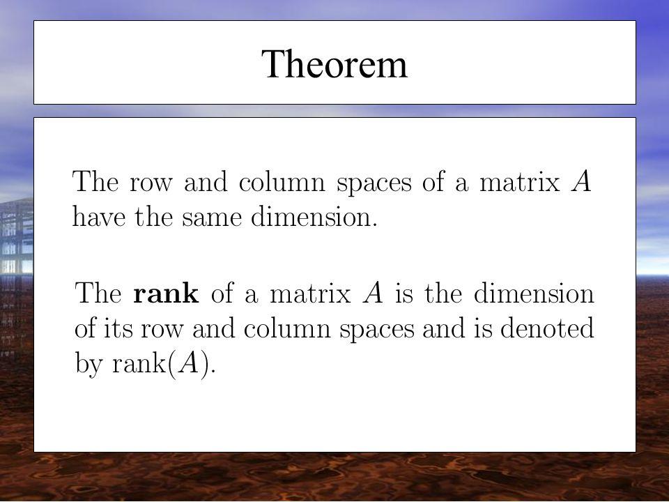 rank nullity theorem examples pdf