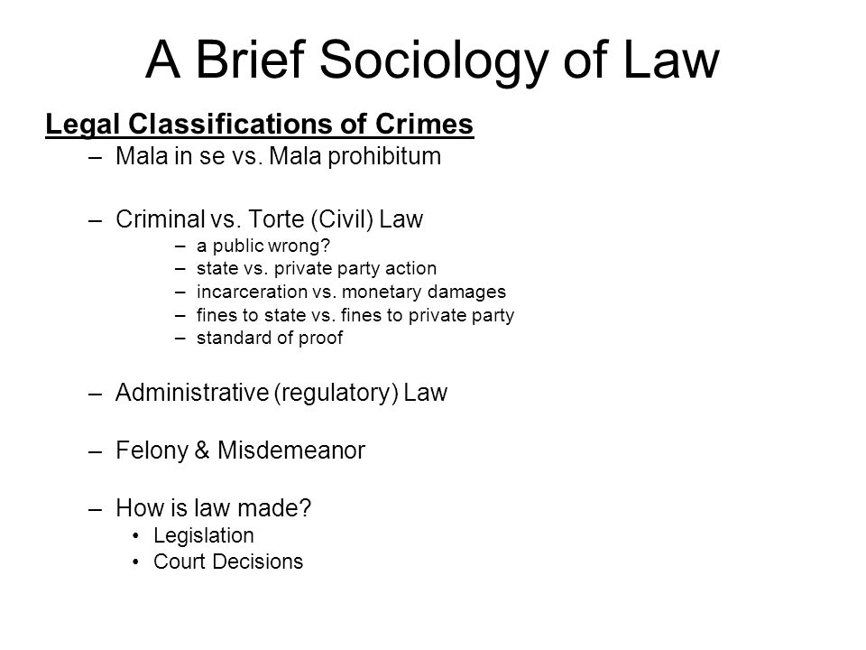sociologists and the law Law is a form of social control in sociology social control is simply a mechanism used by the government which regulates the activities of all individuals within any society, with law being a perfect example.