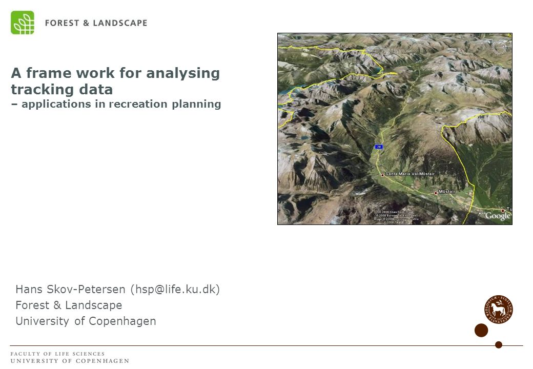 A frame work for analysing tracking data – applications in recreation planning