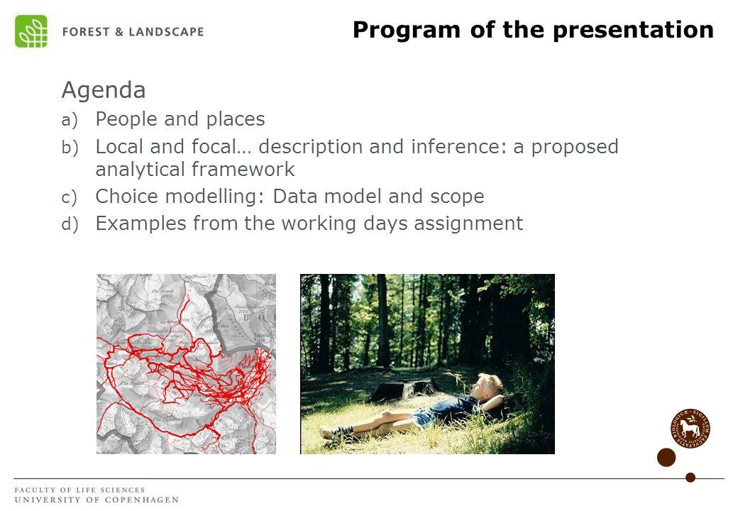 Program of the presentation