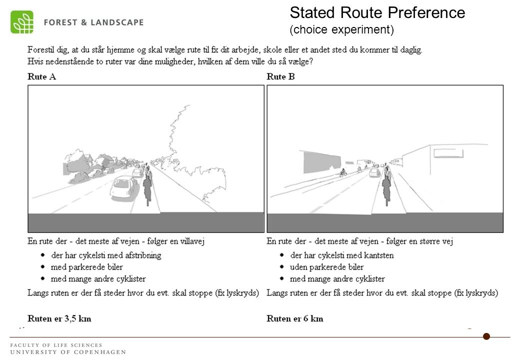 Stated Route Preference