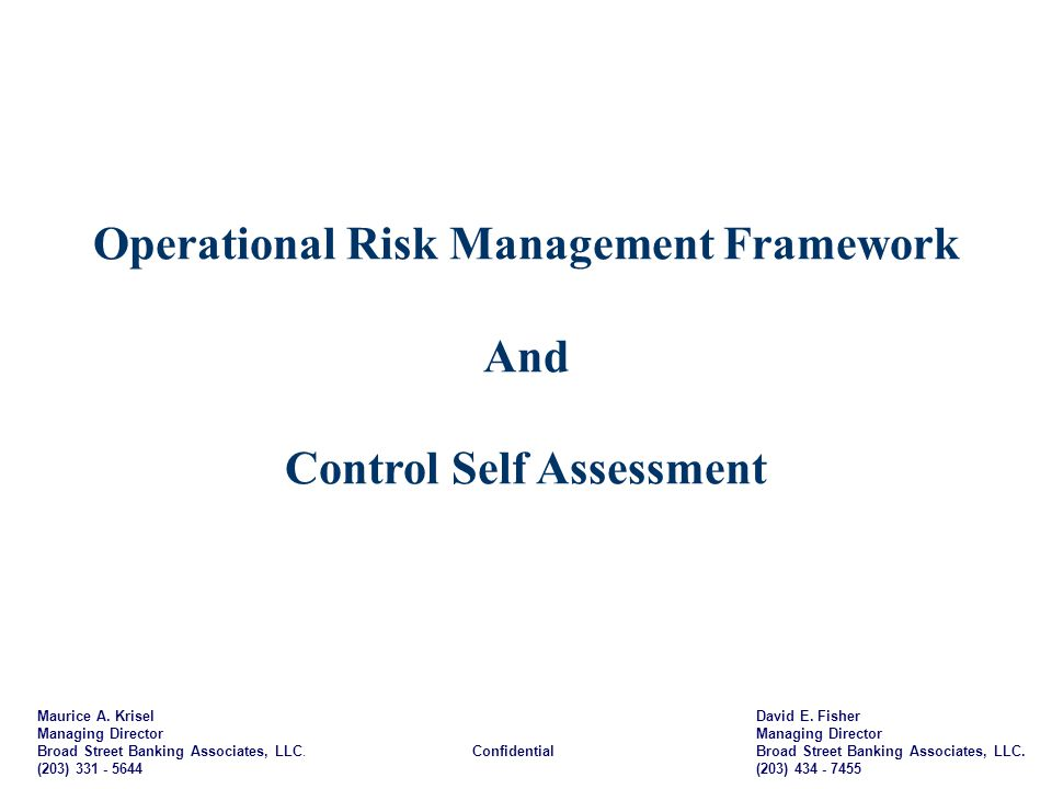 Operational Risk Management Framework Control Self Assessment – Usmc Orm Worksheet