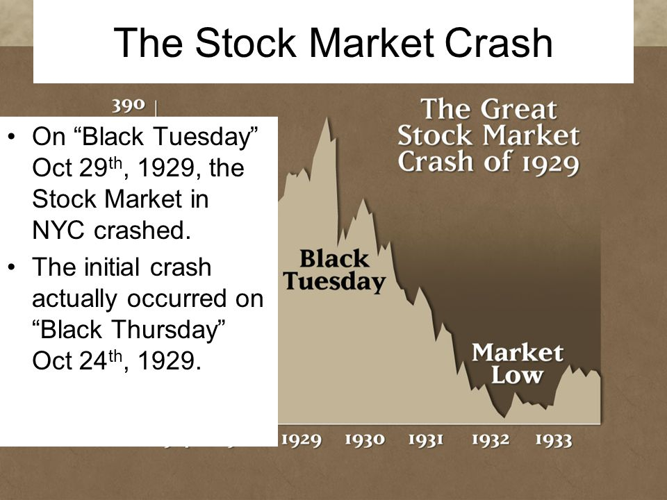 an examination of the black tuesday market crash Offering educational products and services, assessment, and professional development for all stages of learning learn more.