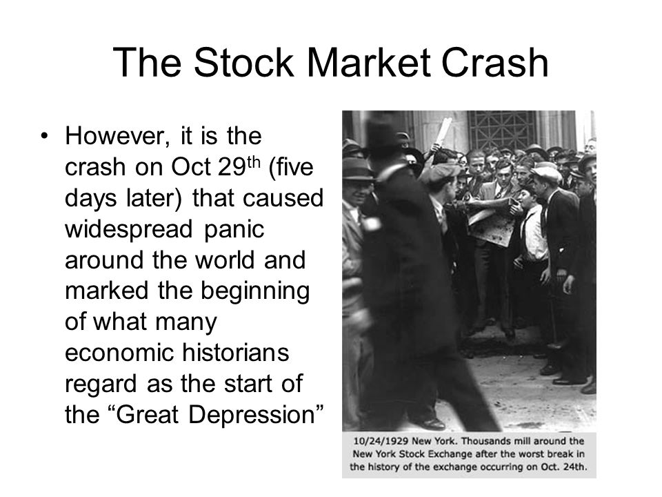 causes of the stock market crash Explanation three questions in particular remain as vivid and elusive today as  they did then: what caused the crash what was the relation of the crash to the.
