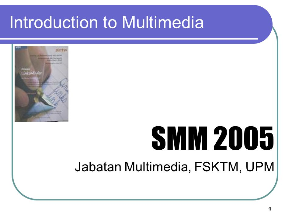 Introduction to multimedia ppt download 1 introduction to multimedia toneelgroepblik Images