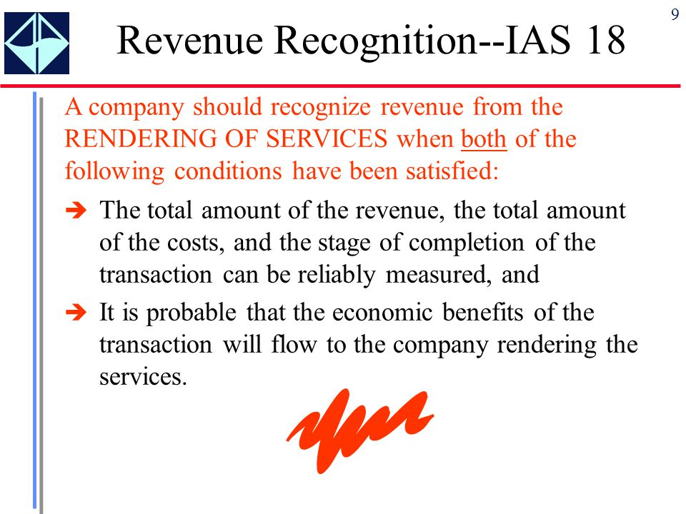 ias 18 revenue recognition Session outline: • introduction • objective • scope • identification of transactions session outline construction contracts 1 5 6 ias 18 ias 11.