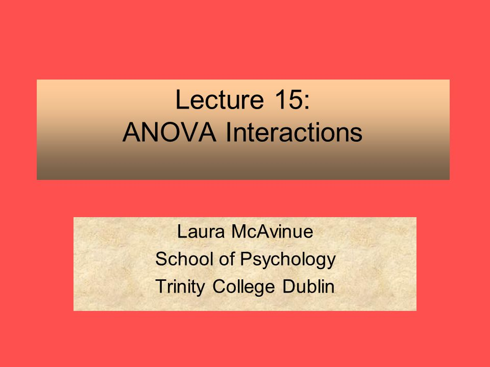 15 anova 2014-12-10  anova— analysis of variance and covariance 3 introduction anova uses least squares to fit the linear models known as anova or ancova (henceforth referred to simply as anova models.