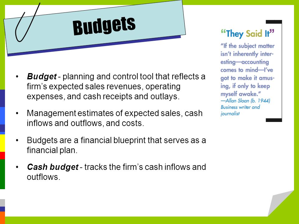 budgeting as instrument for planning and control Budgetary control : meaning, objectives and essentials it provides a method of control too a budget budgetary control is essential for policy planning and.