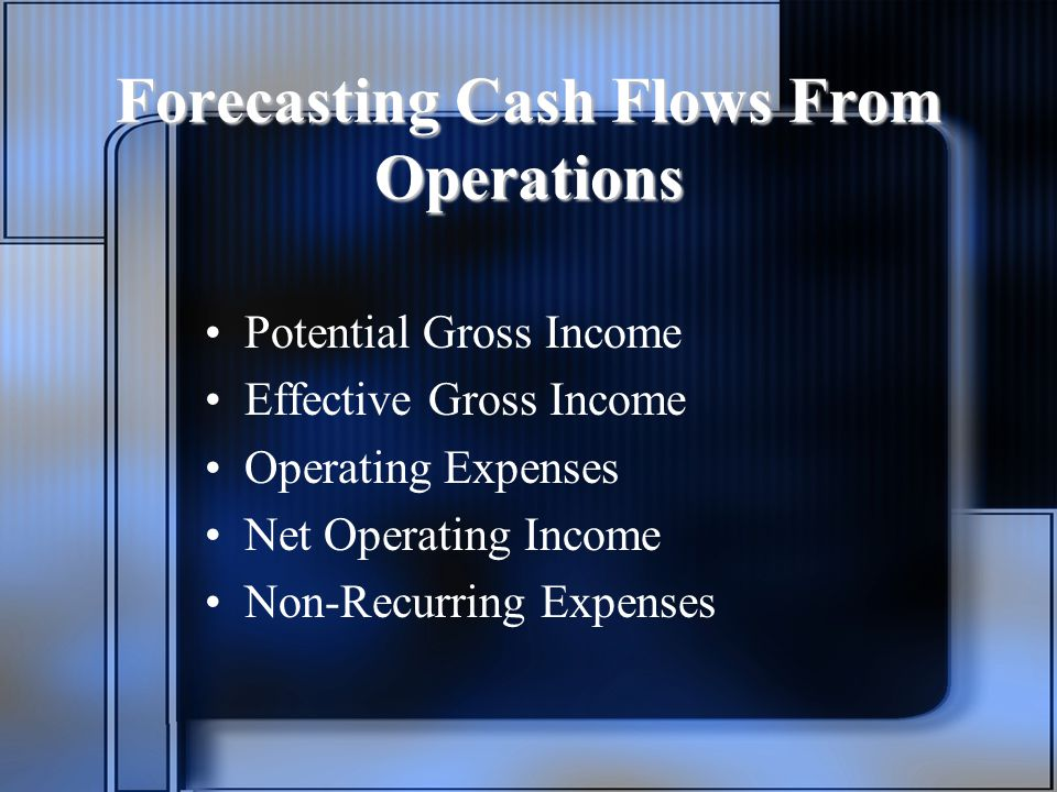 Forecasting Cash Flows From Operations