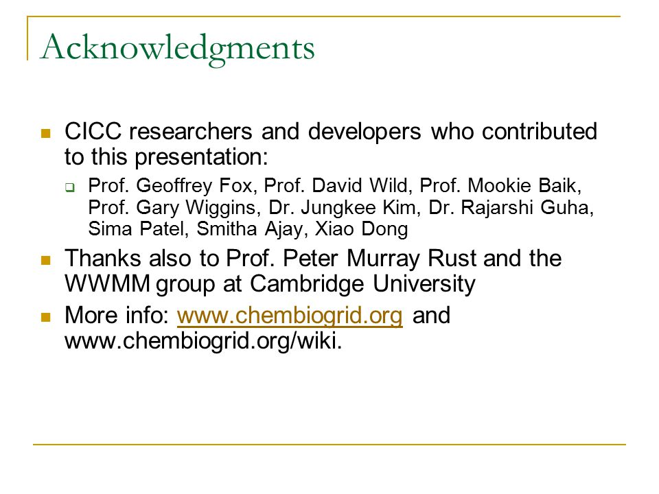 Building a Chemical Informatics Grid - ppt download