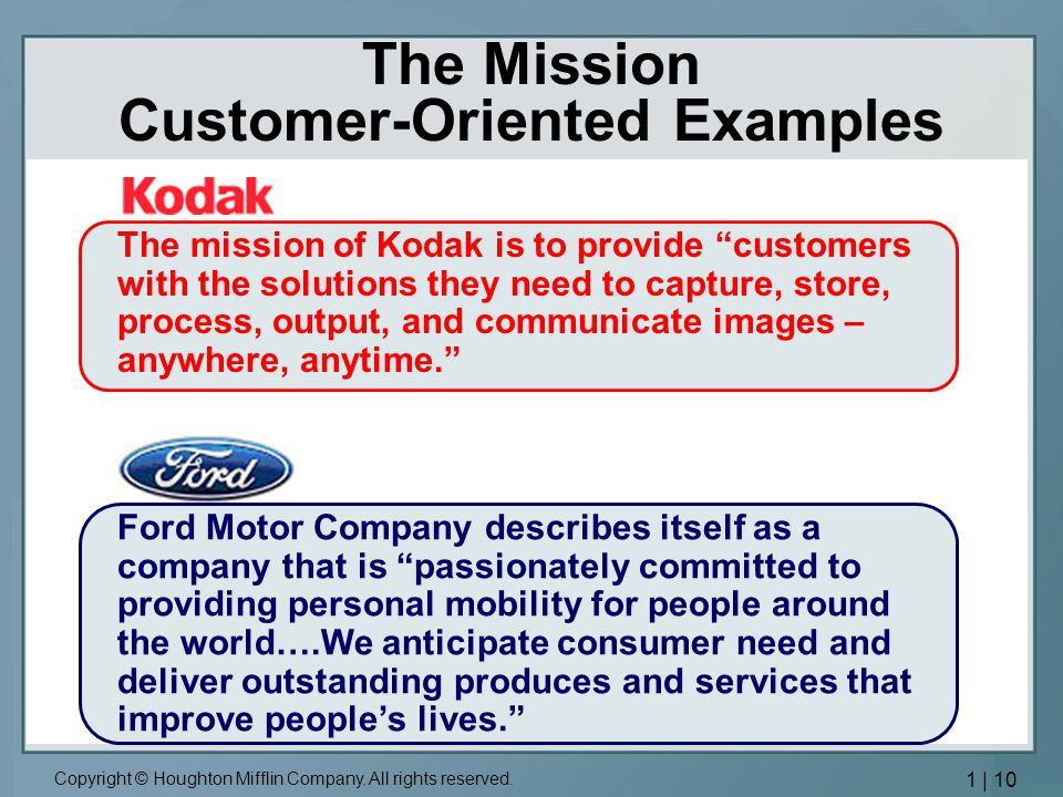 Customer oriented company