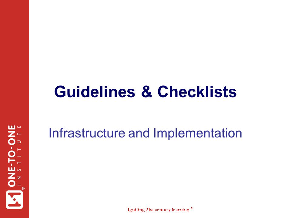 Guidelines & Checklists