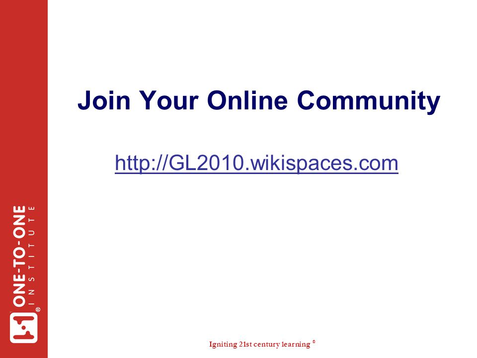 Join Your Online Community