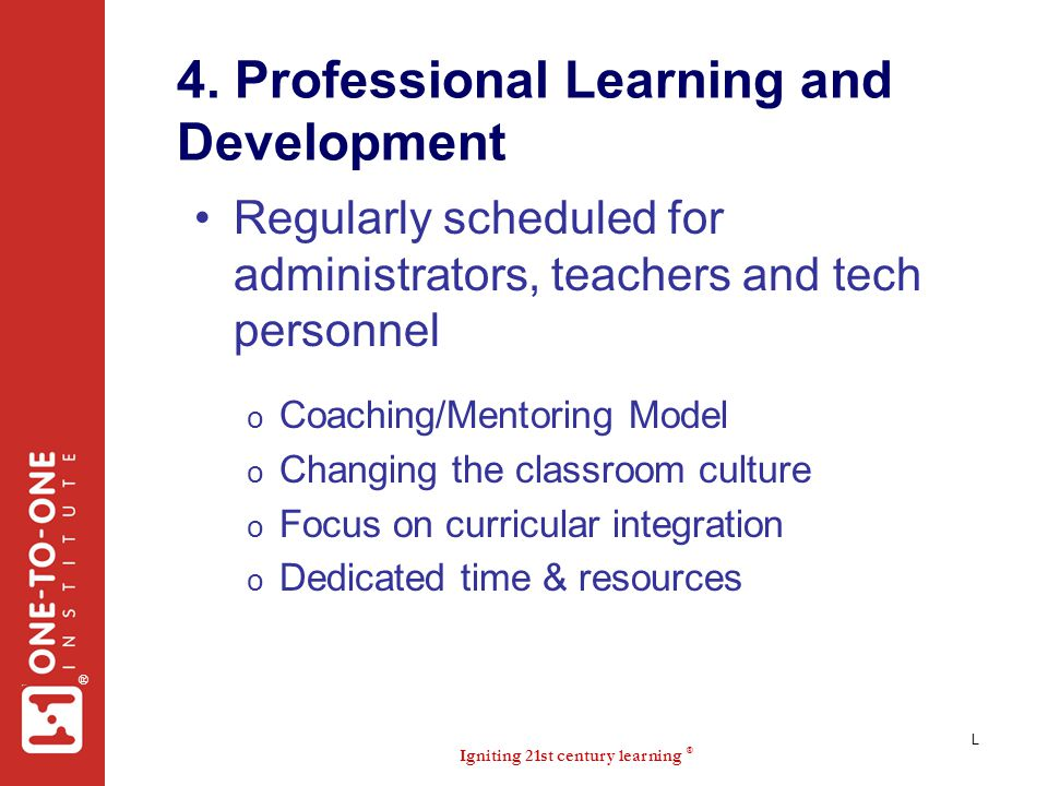 4. Professional Learning and Development