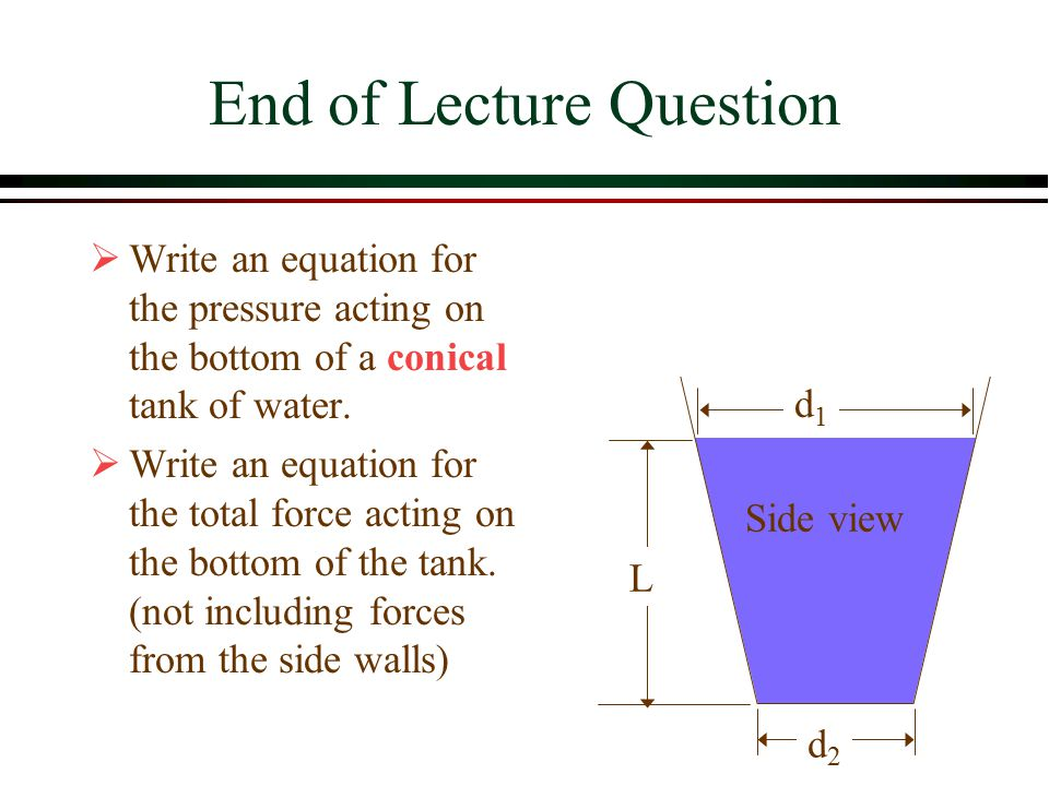 End of Lecture Question