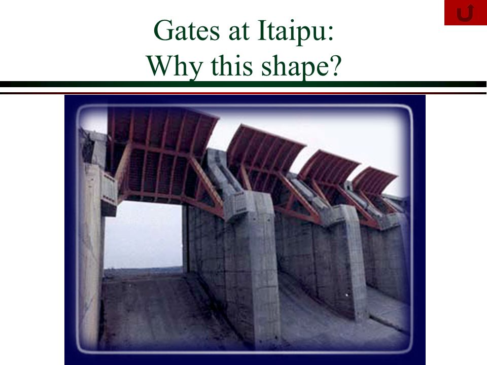 Gates at Itaipu: Why this shape