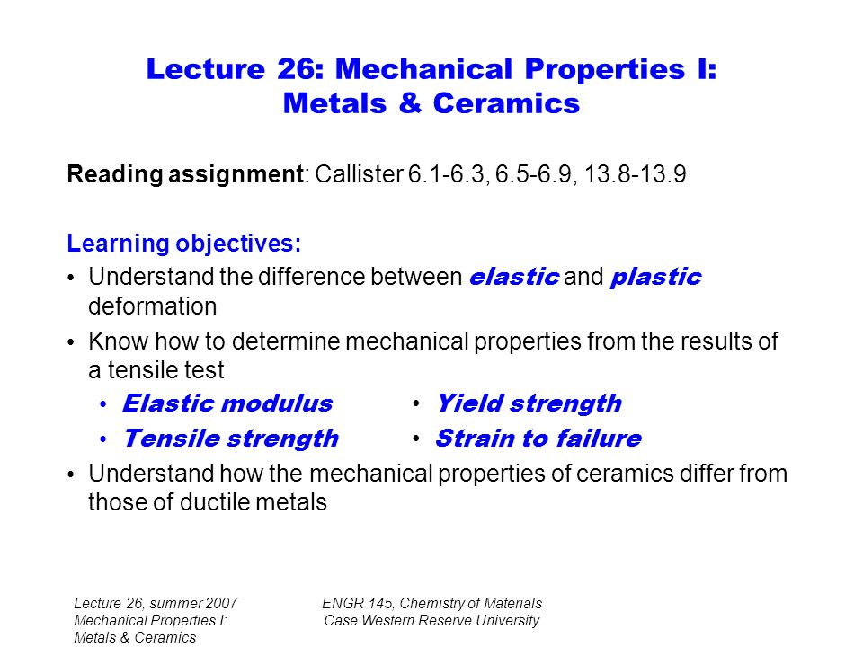 lecture on strength of materials