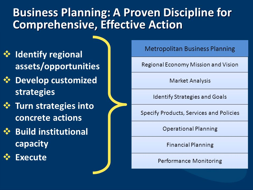 Business Planning: A Proven Discipline for Comprehensive, Effective Action