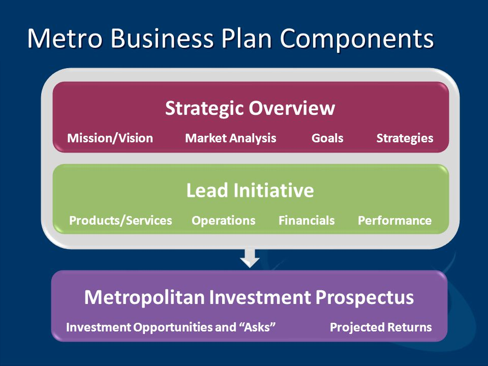 Metro Business Plan Components