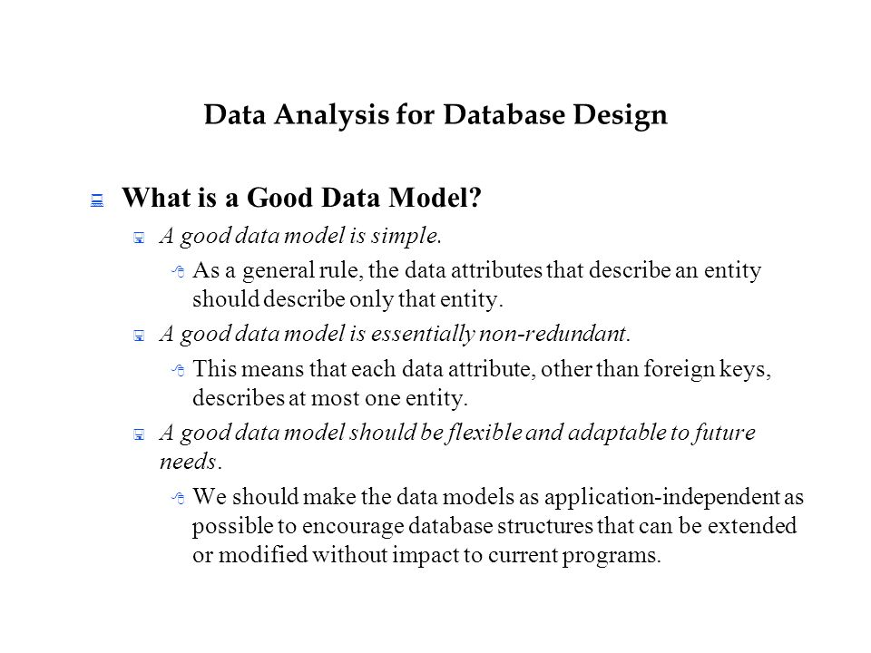 how to make a good database