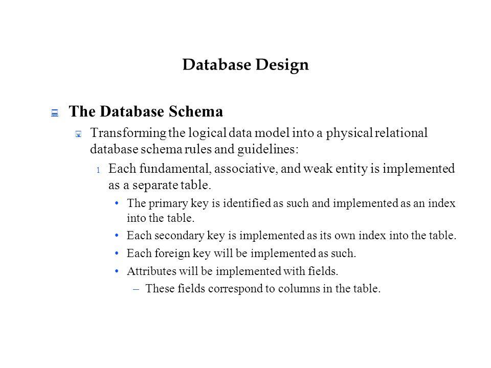 36 database - Database Design Guidelines