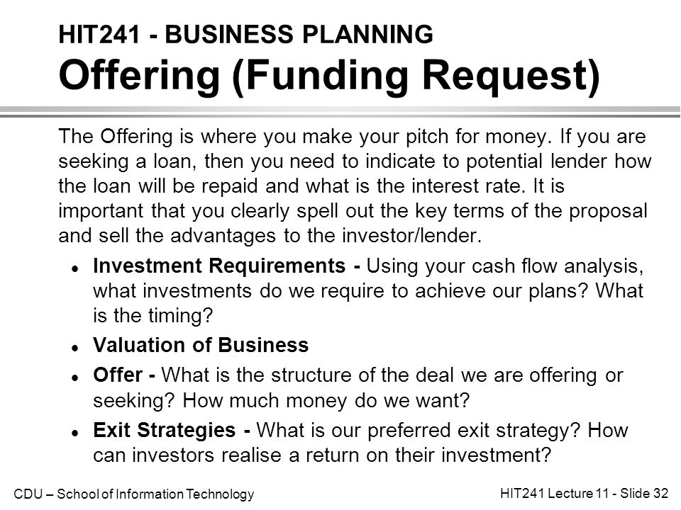 hit241 - business planning introduction