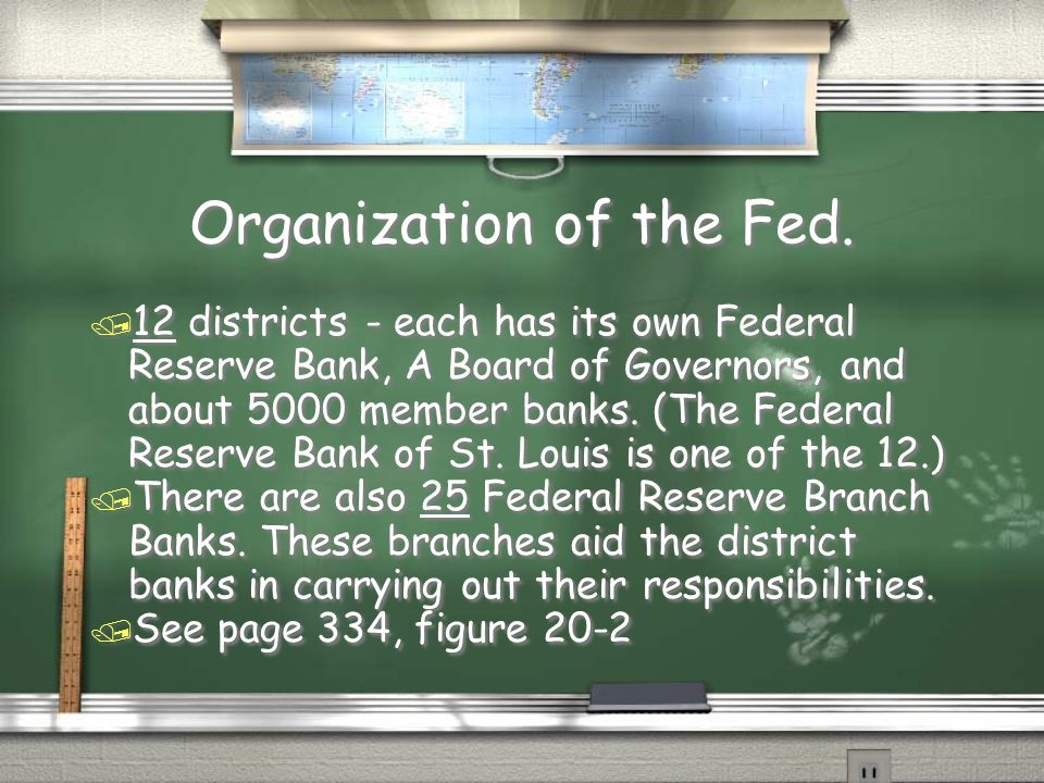 Organization of the Fed.