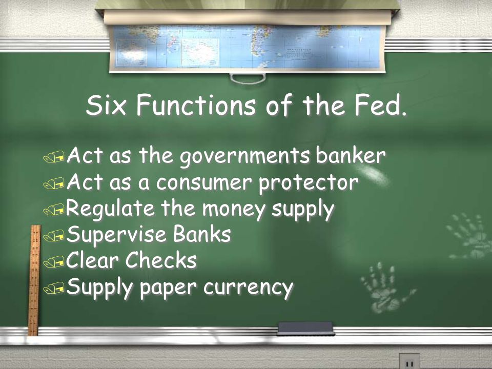 Six Functions of the Fed.