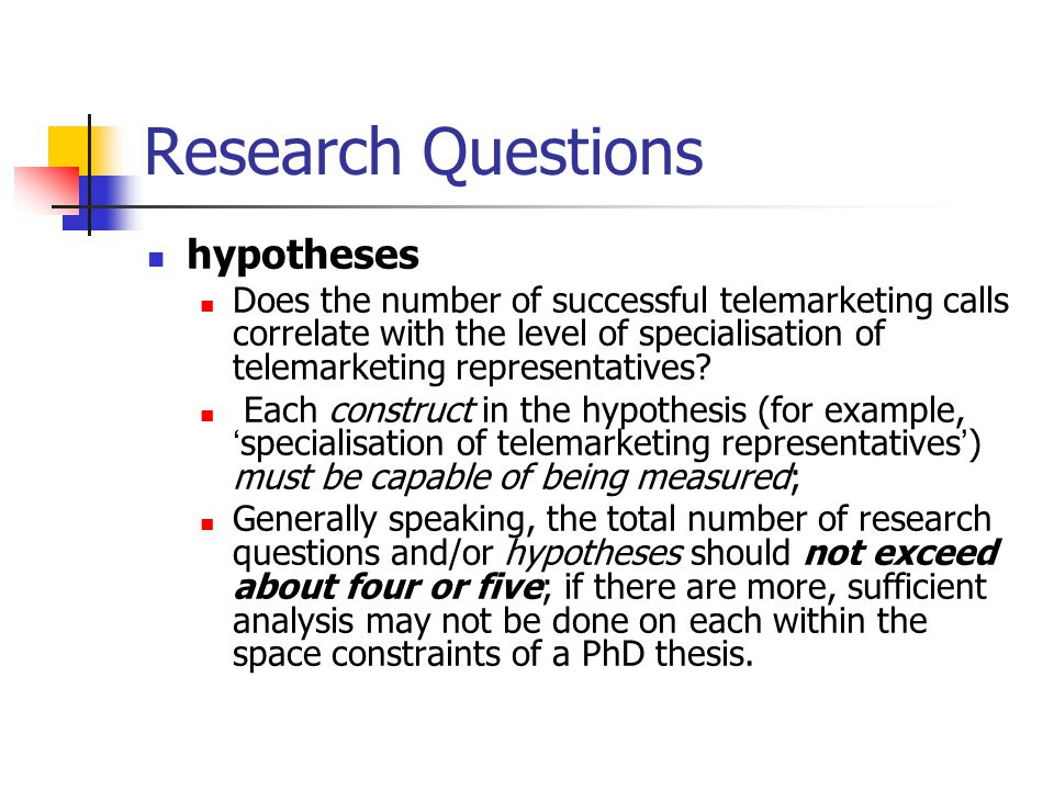 Formulating hypotheses in your dissertation