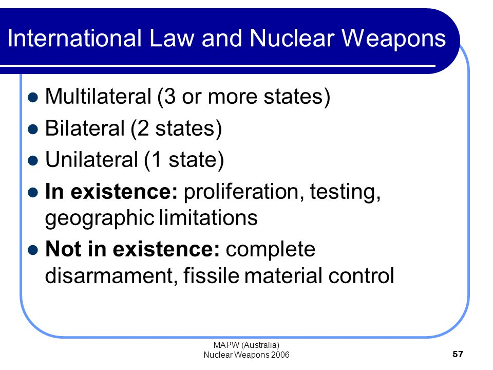relationship between disarmament and arms control agreements