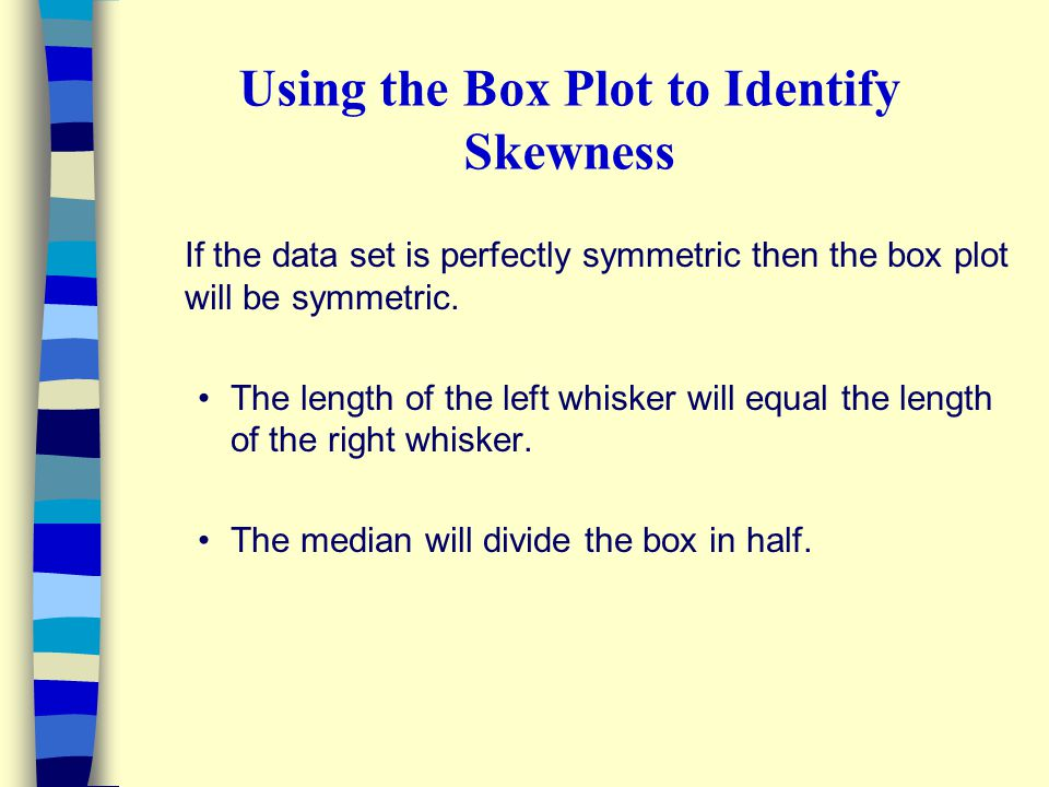 Using the Box Plot to Identify Skewness