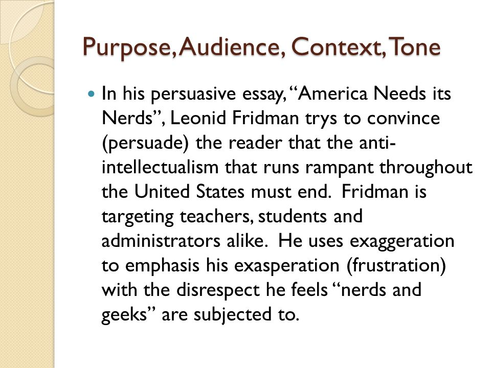 "america needs its nerds"" by leonid fridman ppt video online  2 purpose"