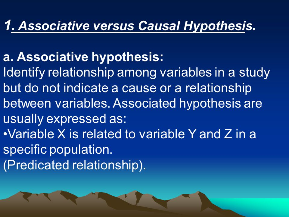 how the relationship between cause and effect can be a hypothesis