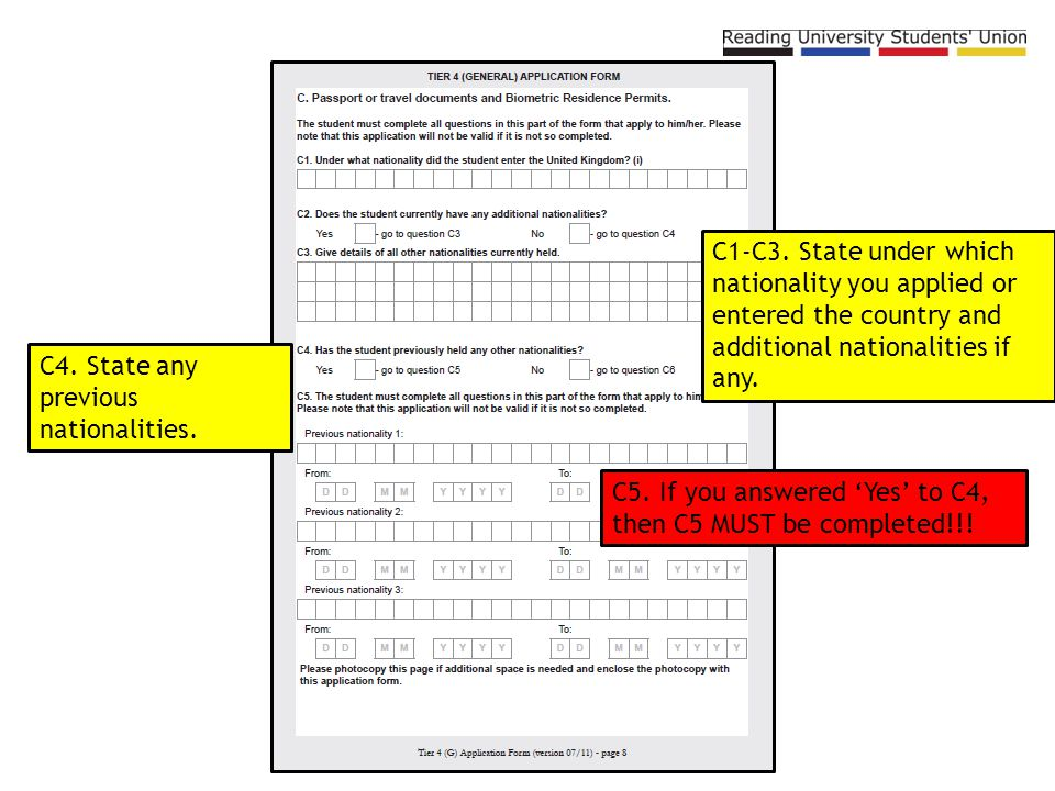 uk tier 4 visa application form download