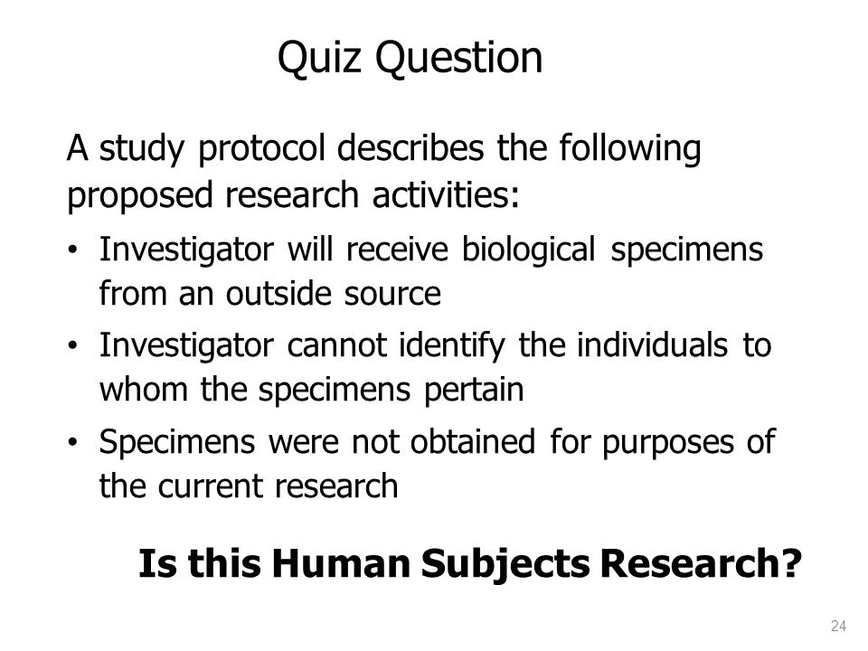 Is this Human Subjects Research