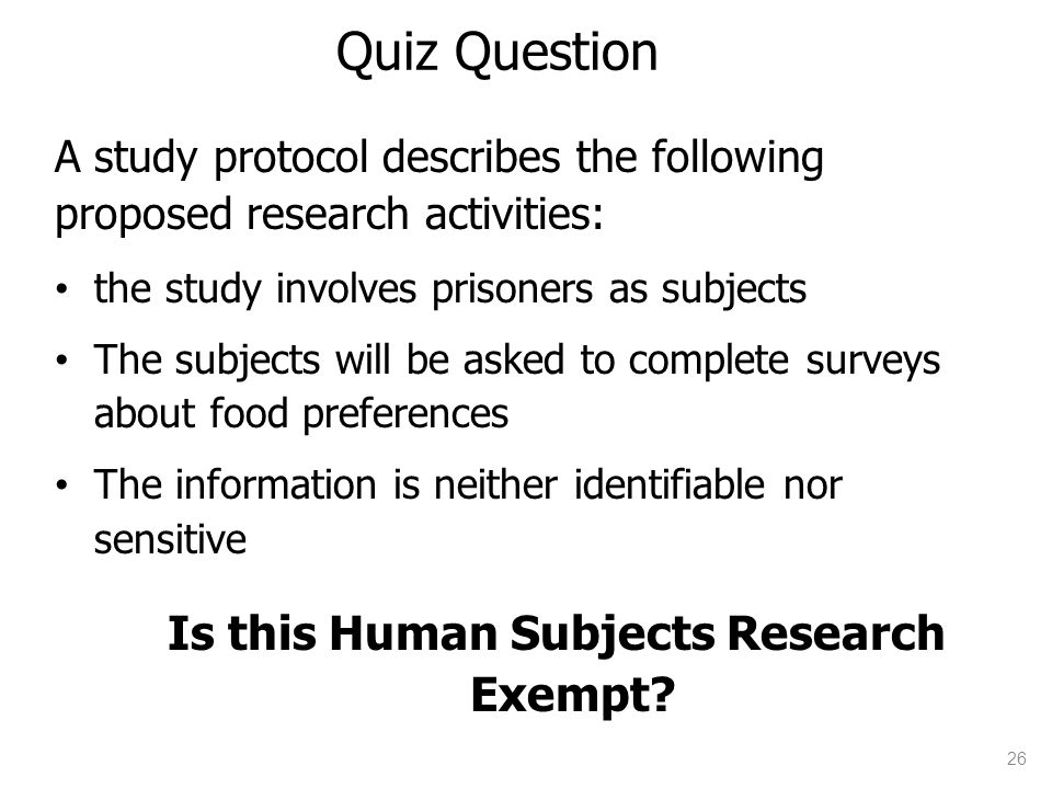 Is this Human Subjects Research Exempt