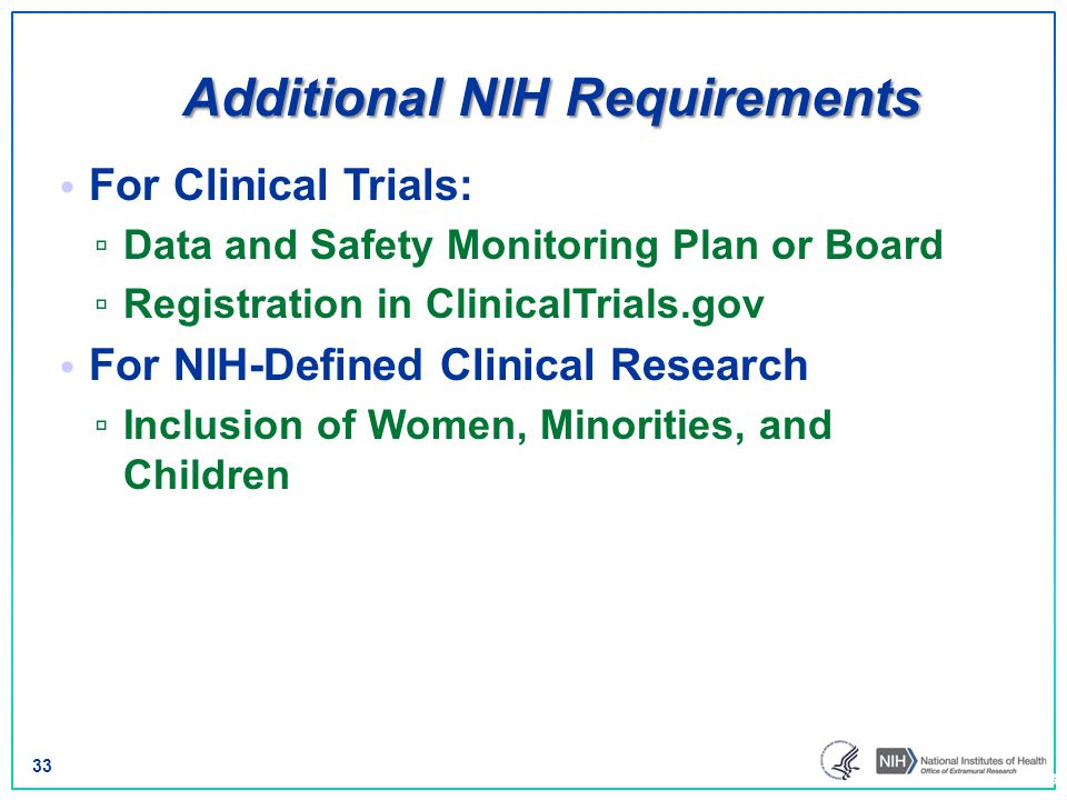 Additional NIH Requirements