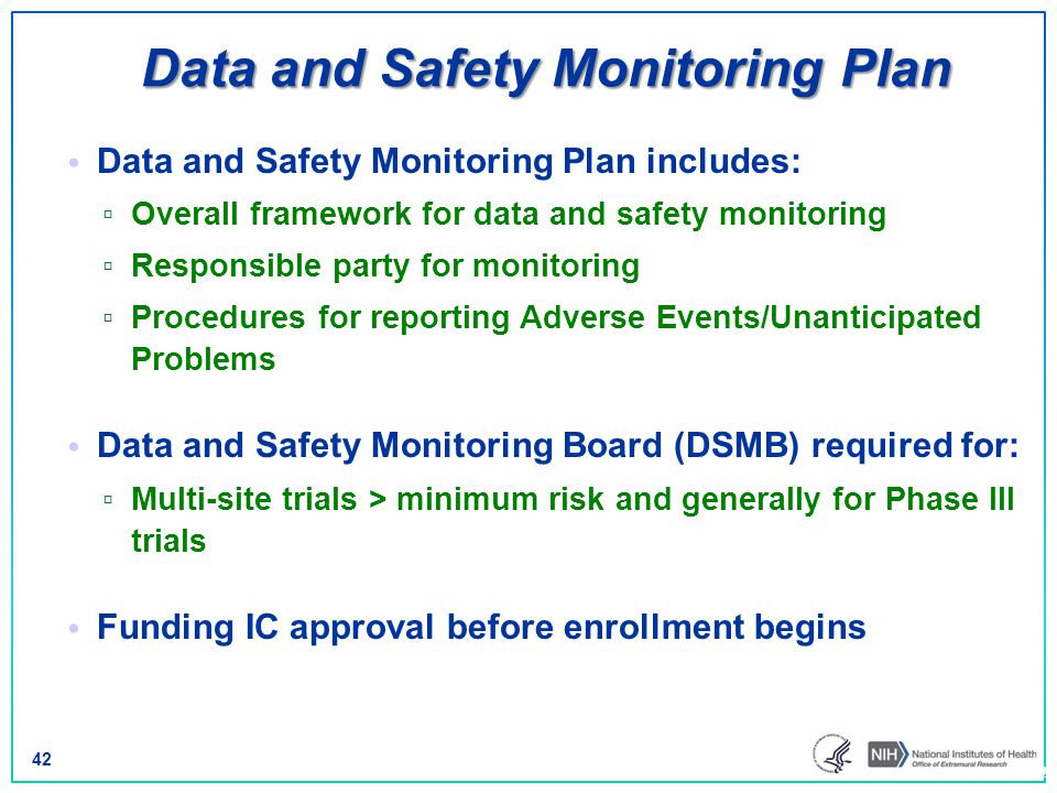Data and Safety Monitoring Plan