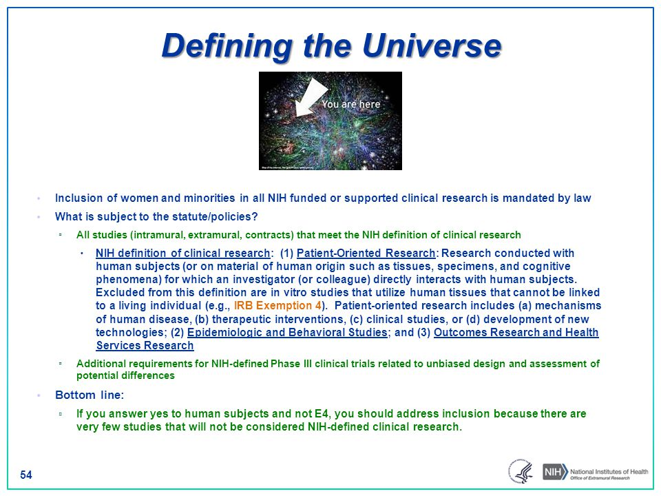Defining the Universe Bottom line: