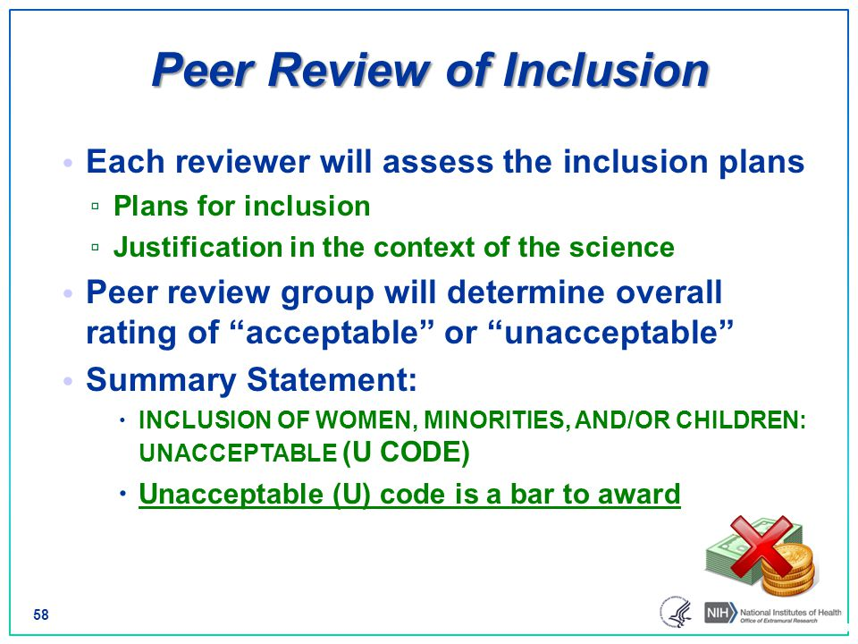 Peer Review of Inclusion