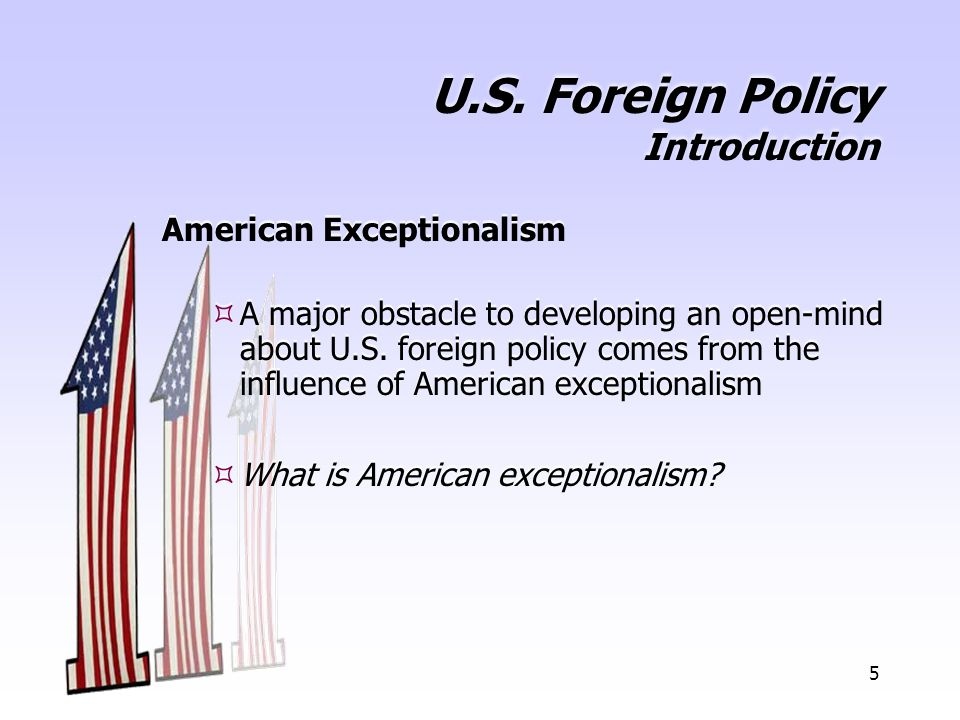 U.S. Foreign Policy Introduction