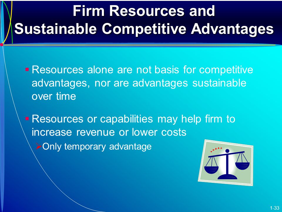firm resources and sustained competitive Saskia menke 13-feb-14 firm resources and sustained competitive advantage internatl vs external analysis firms obtain sustained competitive advantages by.