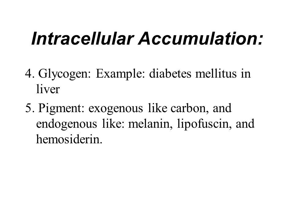Intracellular Accumulation: