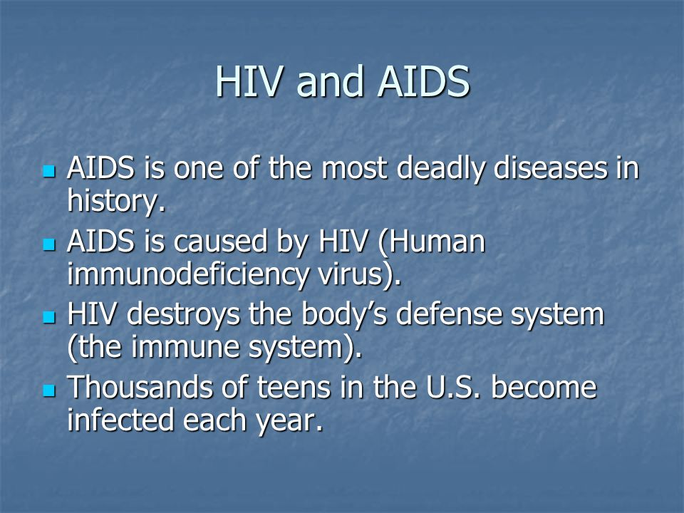 a look at the deadly diseases aids