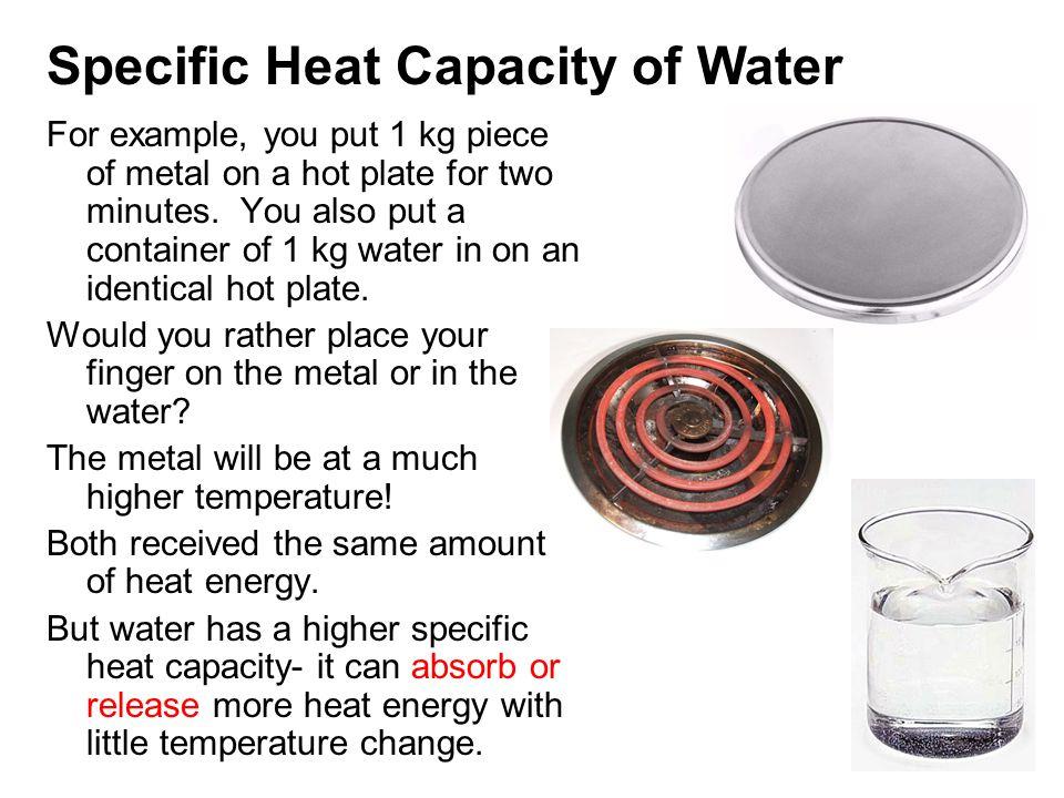 Specific heat of water jgk