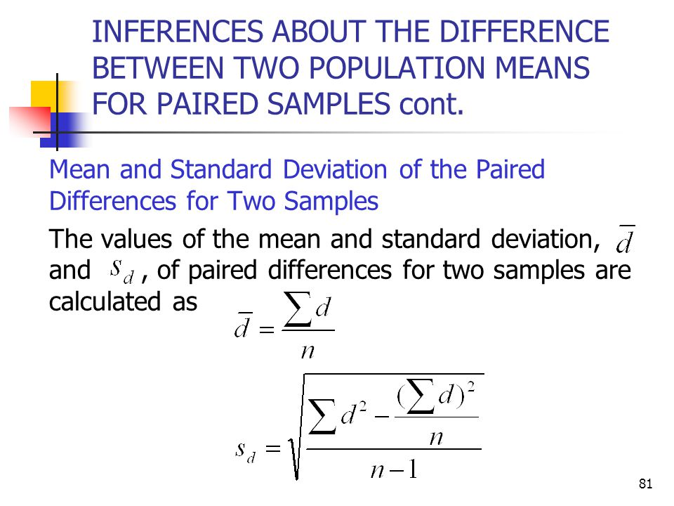 Estimation and hypothesis testing two populations ppt download inferences about the difference between two population means for paired samples cont ccuart Choice Image