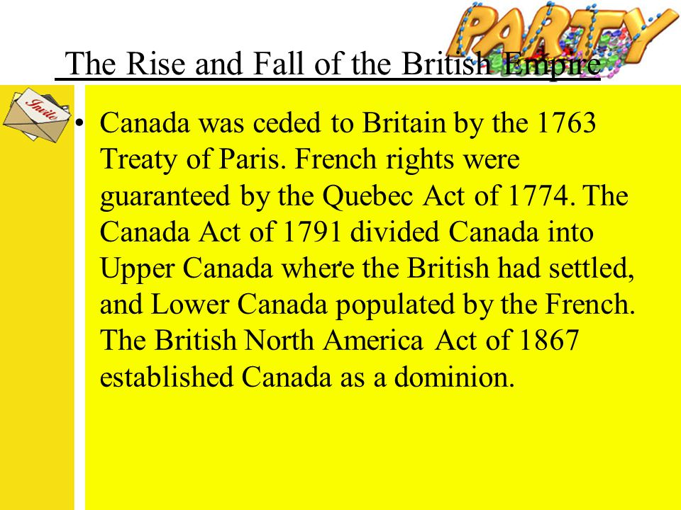 """an analysis of the fall of the 1763 britain empire Before world war ii it was stated fairly, """"the sun never set on the british empire"""" for decades, this was true: the british colonial empire touched all corners."""