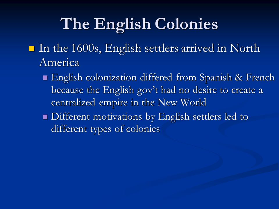 why did colonial chesapeake differ from new england English colonies new england and chesapeake pdf) similarities and differences between new england and did not persecute people of different.