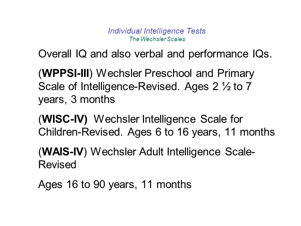 the wechsler preschool and primary scale of intelligence chapter 4 using and reporting standardized test results 832