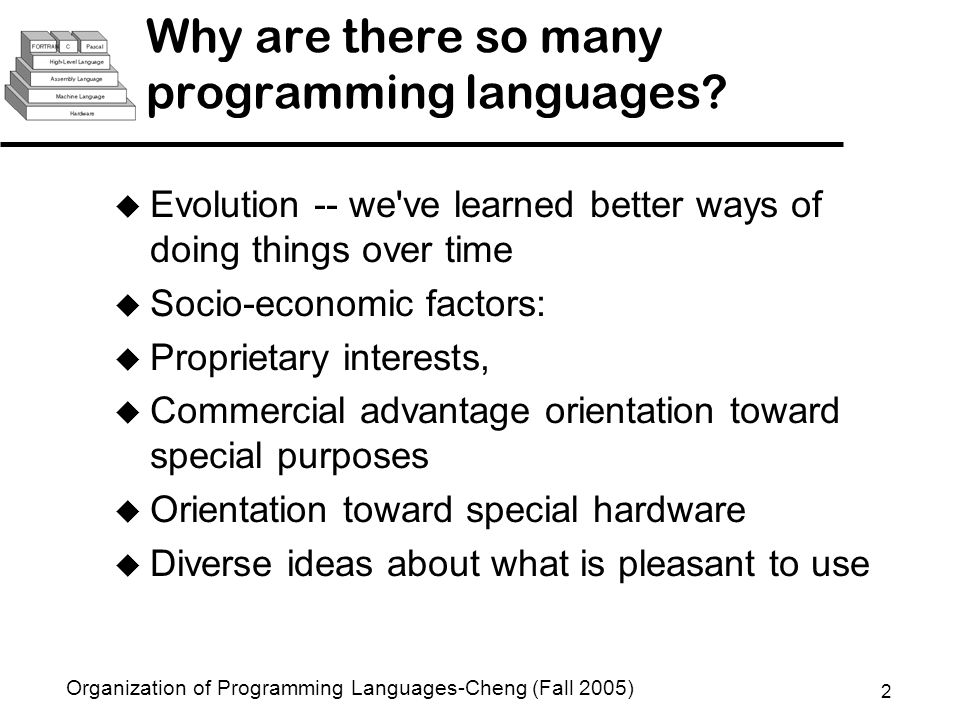 Organization Of Programming Languages CSE Ppt Video Online - What languages are there